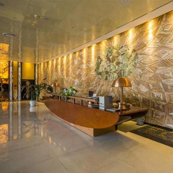 在线买足球星海国际金融中心大堂理石工程